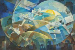 Tullio Crali (Igalo, Dalmatien/Dalmazia 1910 – Mailand/Milano 2000)Volo al tramonto, 1930;Öl auf