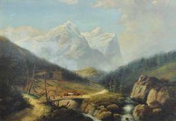 Franz Richard Unterberger (Innsbruck 1838 – Neuilly sur Seine 1902)Tiroler Gebirgslandschaft, 1877;