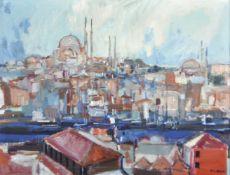 Erich Kraus (Innsbruck 1934 – 2015)Istanbul;Öl auf Leinwand, 38 x 48,5 cm Signiert