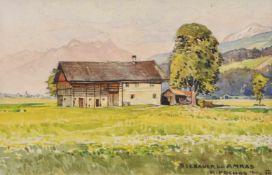 Rudolf Preuss (Wien/Vienna 1879 – Innsbruck 1961)Seebauer in Amras bei Innsbruck, 1934;