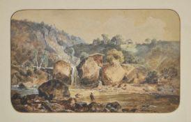 Karl Vinzenz Moser (Bozen/Bolzano 1818 – 1882)Sarntal, 1863;Gouache, 18,7 x 30,5 cm, Papier