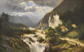 Leopold Heinrich Vöscher (Wien/Vienna 1830 – 1871)(Wien/Vienna 1830 – 1871);Öl auf Leinwand, 80 x