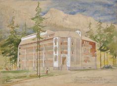 Ernesto Giuliano Armani (Malè 1898 – Rovereto 1986)Aquarell/Tempera auf Papier, 35 x 25,5 cm,
