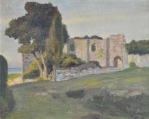Gottfried Hofer Gottfried HoferBrioni, 1919;Öl auf Leinwand auf Karton, 43 x 54 cm, gerahmt