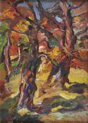 Rudolf Bellenzier (Tötschling, Brixen/Bressanone 1922 – Meran/Merano)Bäume, 1975;Öl auf Karton, 53,5