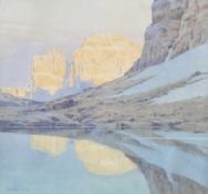 Gotthard an der Lan (Innsbruck 1872 – 1934)(Innsbruck 1872 – 1934);Aquarell, 30 x 32 cm, gerahmt