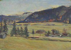 Gustav Bechler (München/Monaco di Baviera 1870 – Innsbruck 1959)Landschaft im Achenseegebiet, 1944;