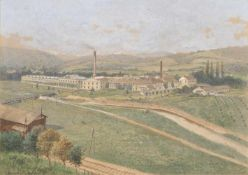 G. Benesch Fabrik in der österreichischen Monarchie, um 1900;Aquarell, 27,5 x 29,5 cm, gerahmt