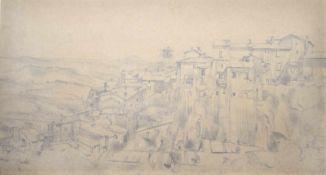 Carlo Cainelli (Rovereto 1896 – Florenz/Firenze 1925)Ansicht von Orvieto, 1919;Bleistift auf Papier,
