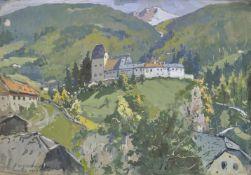 Julius v. Kaan-Albest (München/Monaco 1874 – Berlin/Berlino ca. 1944)Burg Trautson in Matrei, 1934;
