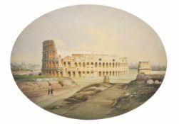 Hermann Corrodi (Frascati 1854 – Rom/Roma 1905)Kolosseum Rom;Aquarell, 26,2 x 35,3 cm Signiert