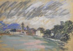 Erwin Lutz-Waldner (Meran/Merano 1912 – Innsbruck 1975)Rattenberg;Pastell, 32,5 x 46,5 cm, Papier
