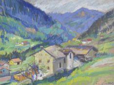 Erwin Lutz-Waldner (Meran/Merano 1912 – Innsbruck 1975)Pfitschtal;Pastell, 44 x 57 cm, gerahmt