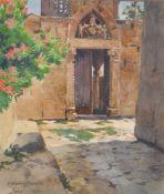 Eduard von Handel-Mazzetti (Innsbruck 1885 – 1950)Kirchenhof in Arbe (Rab/Kroatien), 1920;