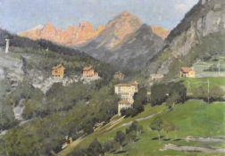 Gianfranco Campestrini (Mailand/Milano 1901 – 1979)Fai della Paganella, Trentino;Öl auf Leinwand, 69