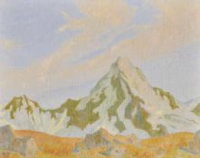 Rudolf Glotz (Wien/Vienna 1879 – Innsbruck 1958)Königsspitze in der Ortlergruppe, 1946;Tempera auf
