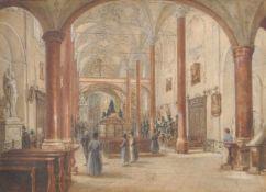 Franz Alt (Wien/Vienna 1824 – Wien/Vienna 1914)Hofkirche in Innsbruck;Aquarell, 26,5 x 36,2 cm