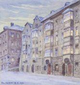 Gotthard an der Lan (Innsbruck 1872 – 1934)Aquarell, 14 x 13,5 cm, gerahmt Signiert u. datiert