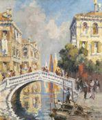Roberto Iras Baldessari (Innsbruck 1894 – Rom/Roma 1965)Brücke in Venedig, 1913/1914;Öl auf