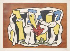 Ferdinand Leger (Argentan 1881 – Gif-Sur-Yvette 1955)L'oiseau rouge dans le bois, 1953;