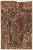 Mark Tobey (Centerville 1890 – Basel/Basilea 1976)Kopf, um 1961;Monotypie mit Tempera u. Kreiden auf