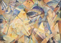 Antonio Marasco (Nicastro 1896 – Florenz/Firenze 1975)Luci e ombre, 1933;Öl auf Karton, 49,5 x 69,