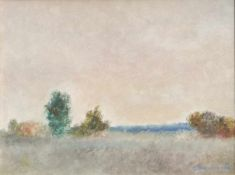 Giovanni Omiccioli (Rom/Roma 1901 – 1975)Landschaft;Öl auf Karton, 40 x 50 cm Verso persönliche
