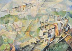 Antonio Marasco (Nicastro 1896 – Florenz/Firenze 1975)Velocità a confronto, 1932;Öl auf Karton, 50 x