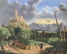 Maler der Mitte des 19. Jh./Pittore della metà dell'Ottocento Die Burgen Rotund und Reichenberg