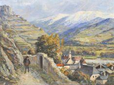 Michael Ruppe (Nesseltal 1863 – Salzburg/Salisburgo 1951)Klausen;Öl auf Leinwand, 49 x 64 cm,