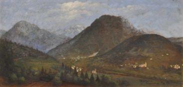 M. Bardaska Campregheri, Trentino, 8.9.1918;Öl auf Karton, 33 x 47 cm, gerahmt Signiert, datiert