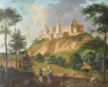 Maler der Mitte des 19. Jh./Pittore della metà dell'Ottocento Burgruine in Tirol/Österreich;Öl auf