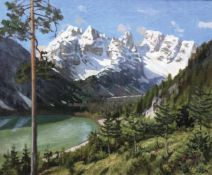Ulderico Giovacchini (Florenz/Firenze 1890 – Bozen/BolzanoDürrensee mit Monte Cristallo, 1960;Öl auf