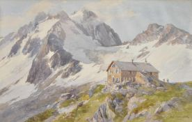 Edward Theodore Compton (London 1849 – Feldafing am Starnberger See 1921)Payerhütte am Ortler;