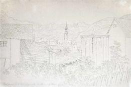 Louis Mayer (Bischofsheim im Kraichgau 1791 – Stuttgart/Stoccarda 1843)Bozen, um 1826;Tusche,