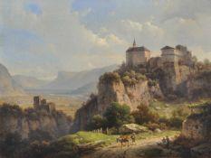 Wilhelm Scheuchzer (Hausen am Albis, Schweiz 1803 – München/Monaco di Baviera 1866)Schloss Tirol mit