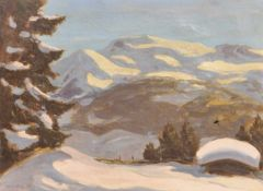 Max Angerer (Schwaz 1877 – 1955)Winterlandschaft bei Schwaz;Öl auf Leinwand, 52 x 68 cm, gerahmt