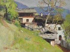 Max Sparer (Söll, Tramin/Termeno 1886 – Bozen/Bolzano 1968)Südtiroler Bergbauernhof, 1921;