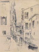Tony Grubhofer Innsbruck 1854 – 1935)Palazzo Albrizzi in Venedig, 1891;Tusche, 25,5 x 19 cm, gerahmt