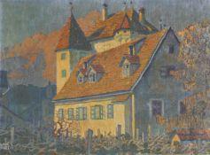 Erwin Merlet (Wien/Vienna 1886 – Bozen/Bolzano 1939)Schloss Kallmünz in Meran, um 1920;Öl auf