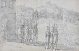 Jakob Placidus Altmutter (Innsbruck 1780 – bei/presso Schwaz 1819).Einmarsch französischer Truppen
