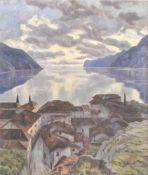 Ada von der Planitz (1880 – 1936, tätig in Meran/attiva a Merano)Torbole, 1919;Tempera auf Leinwand,