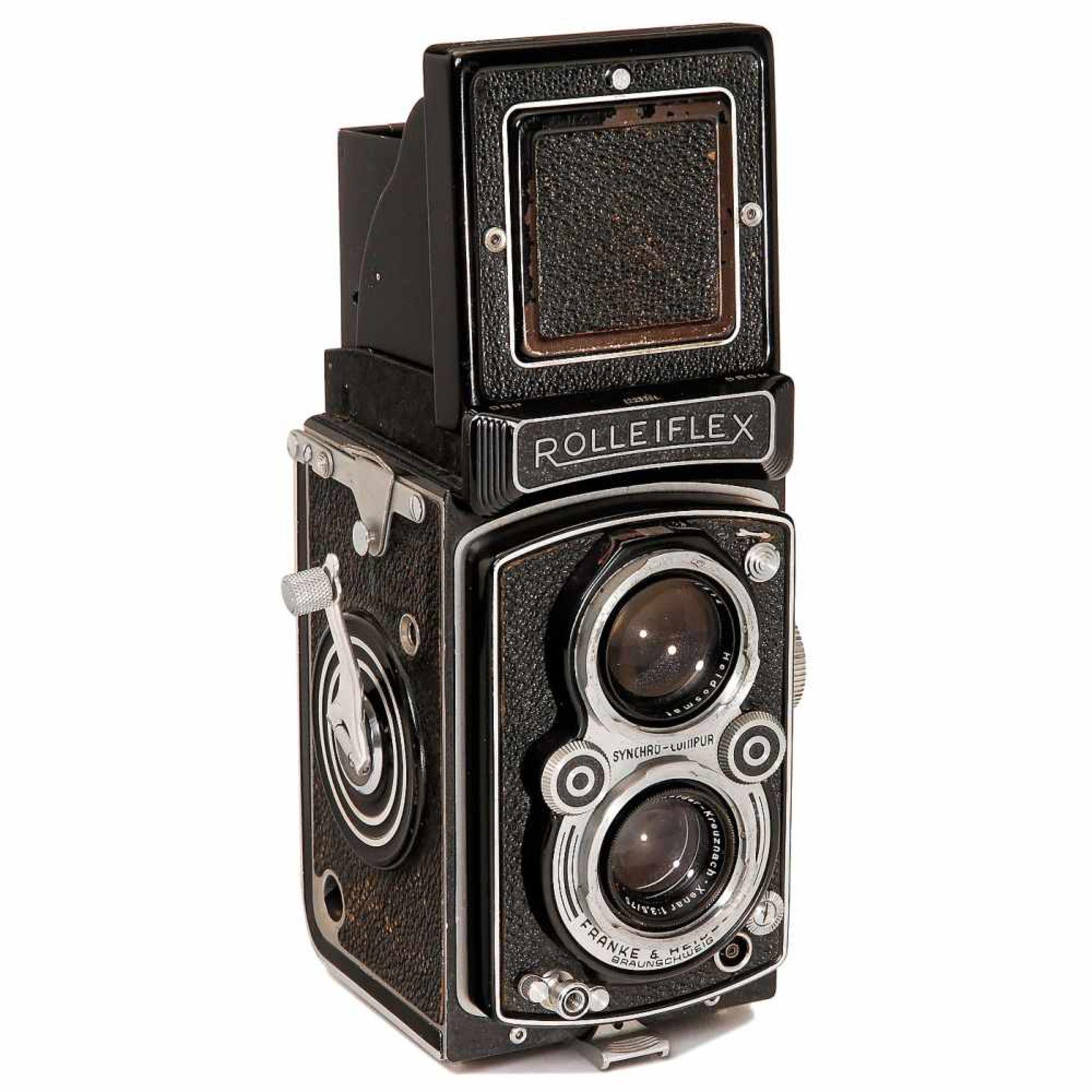 "Rolleiflex 3,5A ""Xenar"", 1951Franke & Heidecke, Braunschweig. No. 1223351, Xenar 3,5/75 mm in"