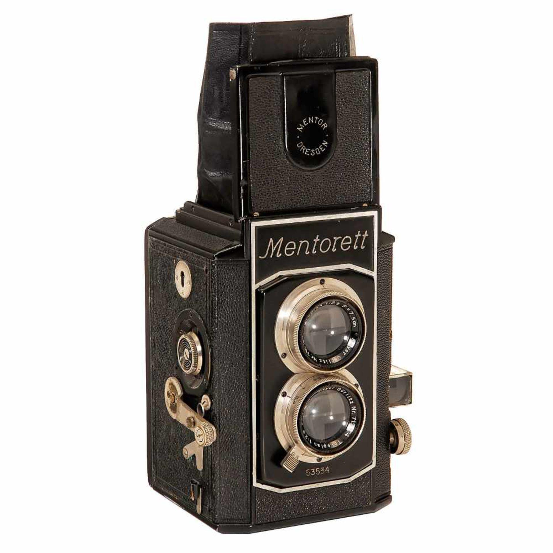 """""""Mentorett"""" Twin-Lens Reflex, 1936Mentor-Kamerafabrik Goltz & Breutmann, Dresden. No. 53534, 6 x 6"""
