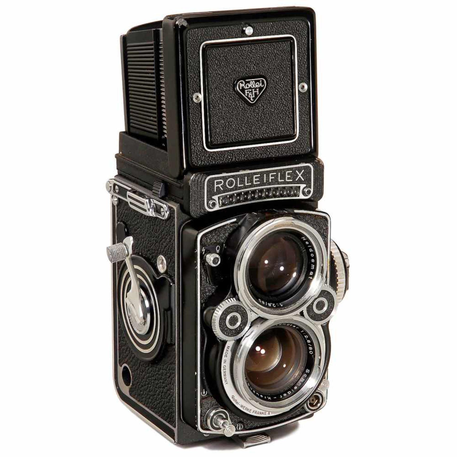 """Rolleiflex 2,8F (White Face) """"Xenotar 2,8"""", 1981Franke & Heidecke, Braunschweig. No. 2,8 F"""