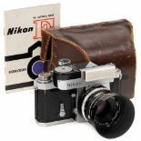 Nikon F, 1959Nippon Kogaku, Tokyo. No. 6400594 (first serial number 6400000), from the first year (