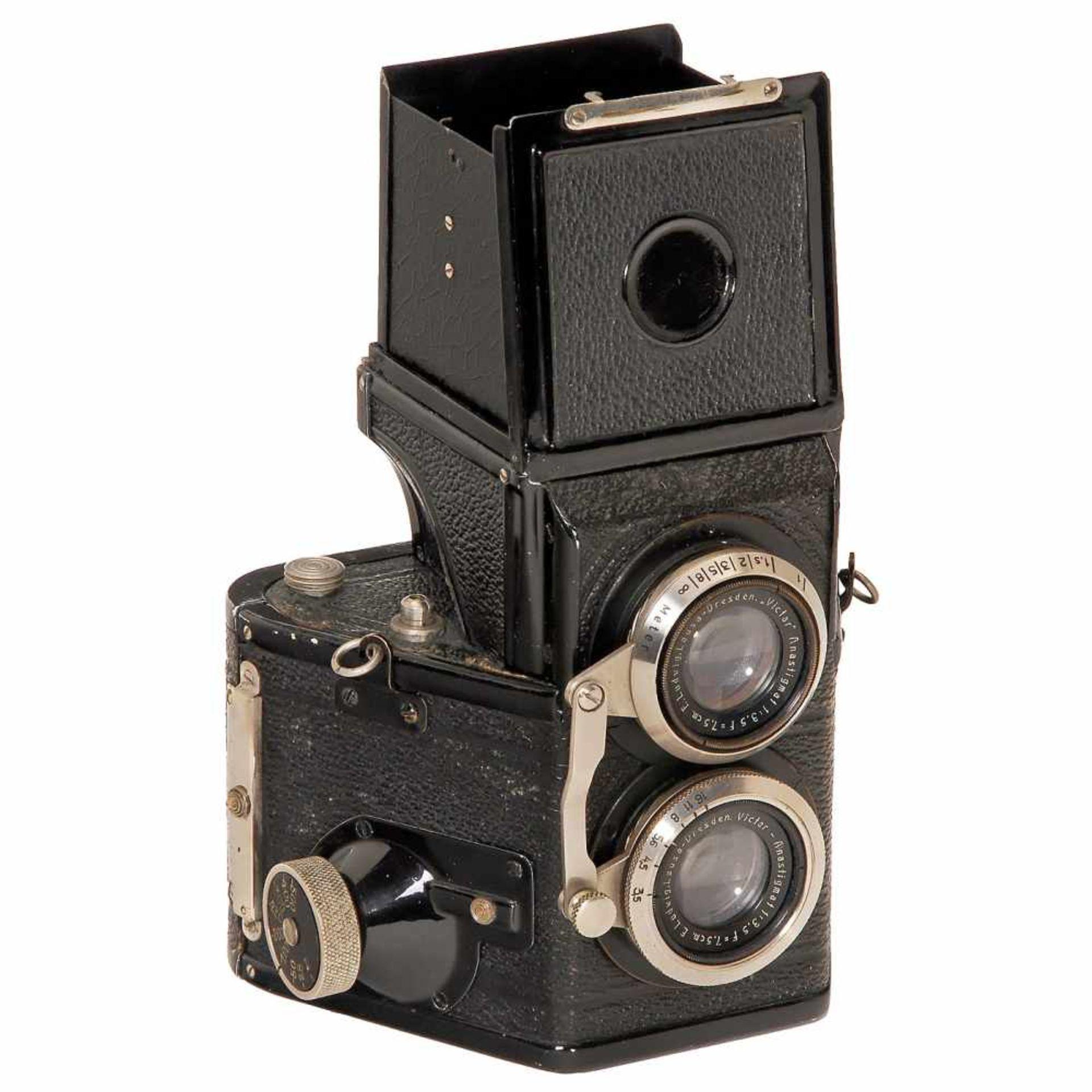 "Rare Twin-Lens TLR ""Karma-Flex Mod. 2"", c. 1937Karl Arnold, Marienberg. Size 6 x 6 cm on film type"
