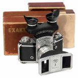 Exakta Varex IIa with Stereflex, c. 1955Ihagee, Dresden. 1) Exakta Varex IIa, no. VX IIa 889237,
