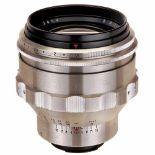 B (Biotar) 1,5/75 mm for ExaktaCarl Zeiss, Jena. No. 6404622, heavy aluminum body, clear glass