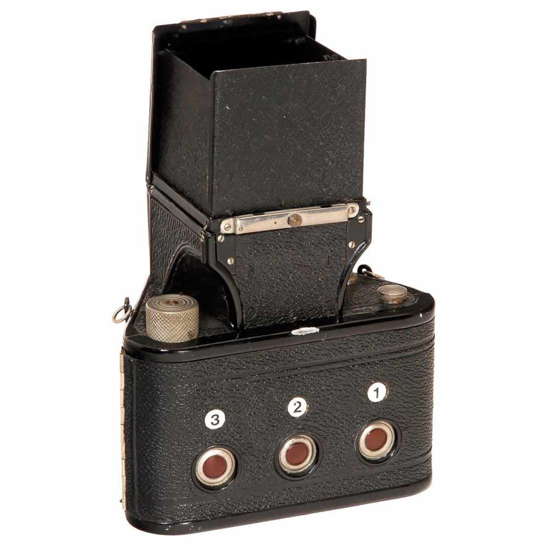 "Rare Twin-Lens TLR ""Karma-Flex Mod. 2"", c. 1937Karl Arnold, Marienberg. Size 6 x 6 cm on film type - Bild 2 aus 2"